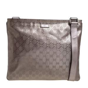 Gucci Metallic Purple GG Imprime Messenger