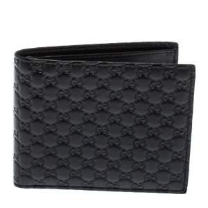 Gucci Black Microguccissima Leather Bifold Wallet