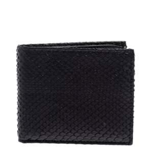 Gucci Black Python Bifold Wallet
