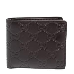 Gucci Dark Brown Guccissima Leather Bifold Wallet