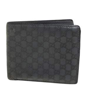 Gucci Grey Microguccissima Leather Bifold Wallet