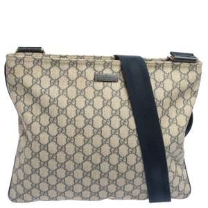 Gucci Navy Blue GG Supreme Canvas Messenger Bag