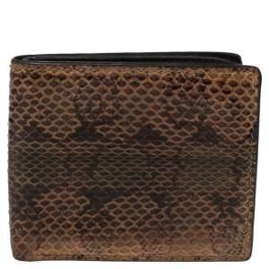 Gucci Multicolor Python Bifold Wallet