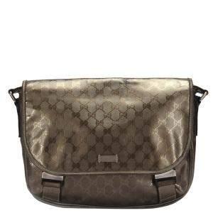 Gucci Brown Canvas GG Imprime Messenger Bag