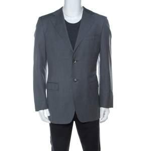 Gucci Grey Wool Classic Blazer L