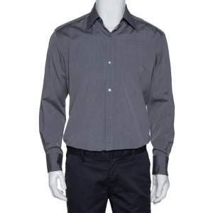 Gucci Dark Grey Cotton Button Front Shirt M