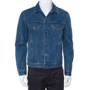 Gucci Blue Tiger Embroidered Denim Jacket M