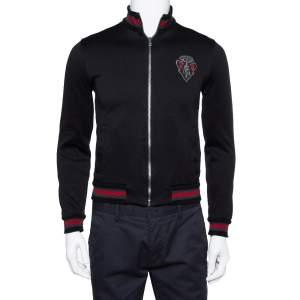 Gucci Equestrian Black Zip Front Jacket XS