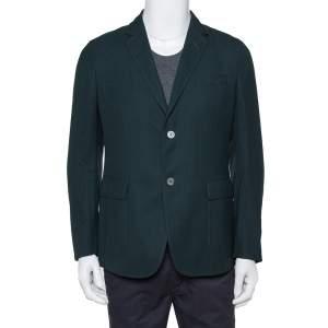 Gucci Dark Green Wool Button Front Blazer L