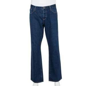 Gucci Navy Blue Denim Straight leg Jeans 3XL