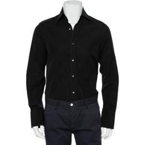 Gucci Black Cotton Button Front Shirt M