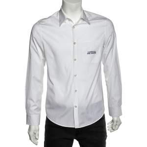 Gucci White Cotton L'Aveugle Par Amour Embroidered Duke Shirt M