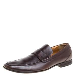 Gucci Brown Leather Loafers Size 41