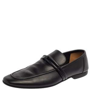Gucci Black Leather Loafers Size 40