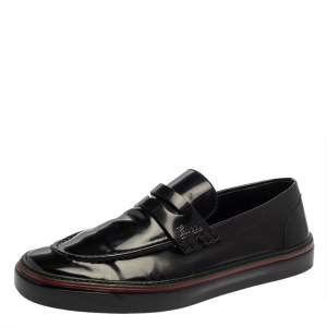 Gucci Black Patent Leather Loafers Size 40.5