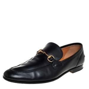 حذاء لوفرز غوتشي مزين هورسبيت سليب أون جلد أسود مقاس 46