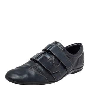 Gucci Blue Guccissima Leather Velcro Sneakers Size 44