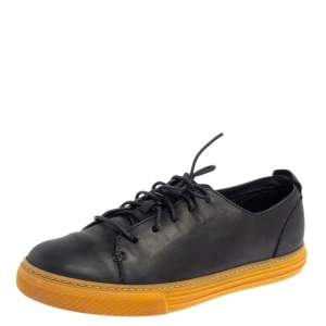 Gucci Navy Blue Leather Low Top Sneakers Size 42