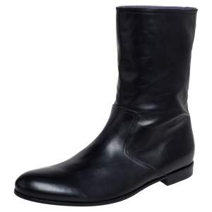 Gucci Black Leather Chelsea Ankle Boots Size 41.5