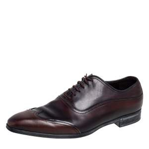 Gucci Ombre Brown Leather Oxford Size 41
