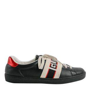 Gucci Tricolor Leather Ace Sneakers Size EU 8.5