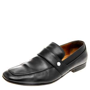 Gucci Black Leather Loafers Size 42.5