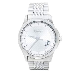 Gucci Silver Stainless Steel G-Timeless YA126417 Men's Wristwatch 38 mm