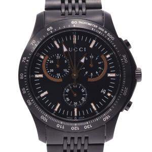 Gucci Black Stainless Steel Gucci G-Timeless Chrono 126.2 Quartz Men's Wristwatch 44 MM
