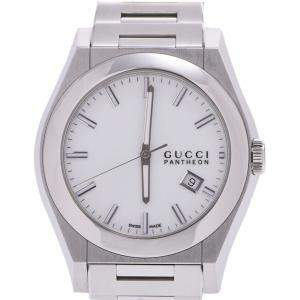 Gucci White Stainless Steel Pantheon 115.2 Men's Wristwatch 43 MM