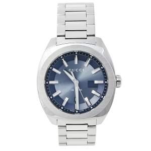 ساعة يد رجالية غوتشي جي جي2570 واي أيه142303 ستانلس ستيل أزرق 40 مم