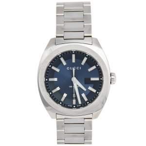 Gucci Blue Stainless Steel GG2570 Series YA142303Men's Wristwatch 40 mm