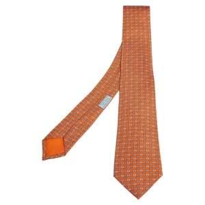 ربطة عنق هيرمس ستريت 7 H برتقالية
