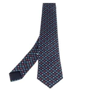 Hermes Navy Blue 7 Job Interview Silk Twill Tie