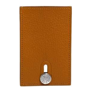 Hermes Caramel Mysore Leather Diabolo Card Holder