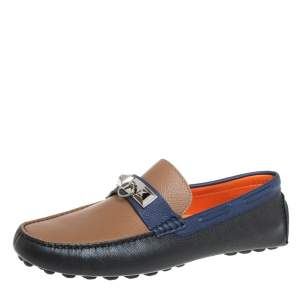 Hermes Tricolor Leather Irving Loafers Size 42