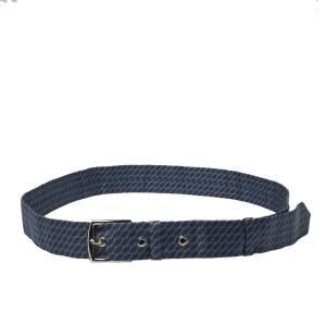 Hermès Blue H Print Silk Twill Capri Belt
