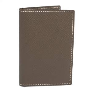 Hermes Sauge Epsom Leather MC² Euclide Card Holder