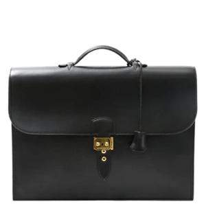 Hermes Black Box Leather Sac a Dépeches 41 Bag