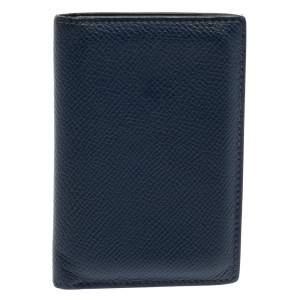 Hermes Blue De Malte Euclide Epsom MC2 Card Holder