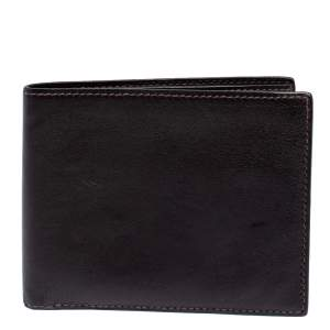 Hermes Ebene Swift Leather Citizen Twill Compact Wallet