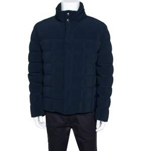 Hermes Navy Blue Puffer Jacket XL