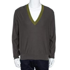 Hermes Grey Cashmere Sweater L