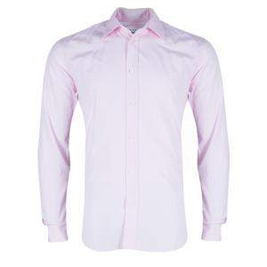 Hermes Men's Pink Straight Fit Poplin Shirt S