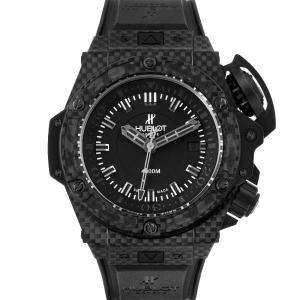 Hublot Black Carbon Fiber Titanium Big Bang King Power Oceanographic 731.QX Men's Wristwatch 48 MM