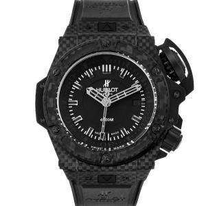 Hublot Black Carbon Fibre Titanium Big Bang King Power Oceanographic 731.QX Men's Wristwatch 48MM