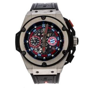 Hublot Skeleton Titanium King Power FC Bayern Munchen Limited Edition Men's Wristwatch 48 mm