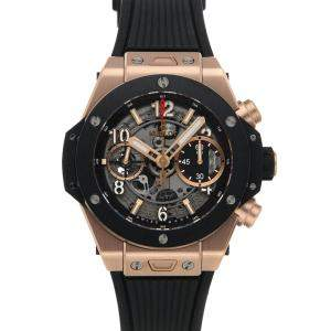 Hublot Gray Ceramic And 18K Rose Gold Big Bang Unico King Gold 441.OM.1180.RX Men's Wristwatch 42 MM