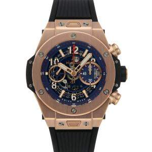 Hublot Blue 18k Rose Gold Big Bang Unico King Gold Blue 411.OX.5189.RX Men's Wristwatch 45 MM