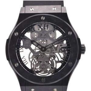 Hublot Black Aluminum Classic Fusion 505.UC.0140.LR.SKULL Manual Winding Men's Wristwatch 45 MM