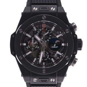 Hublot Black Ceramic Hublot Big Bang Unico Perpetual 406.Ci.0170.Rx Automatic Men's Wristwatch 45 MM